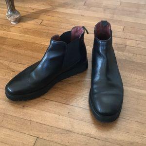 Frau Italian leather boots used once